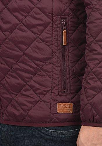 Blend Stanley Herren Steppjacke Übergangsjacke Jacke Mit Stehkragen, Größe:S, Farbe:Zinfandel (73006) - 5