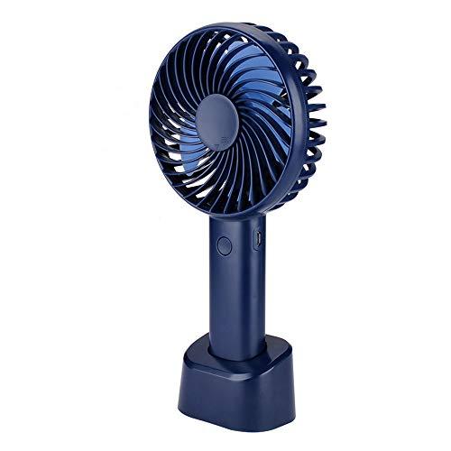 Fanzhou Mini Ventilateur de Poche Silencieux Electrique Ventilateur USB Rechargeable à Main de Bureau avec Boîte d'aromathérapie 2200mAh Batterie au Lithium-ION.(Bleu foncé)