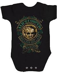 Alice Cooper Billion Dollar Baby Nue Schwarz Schlafstrampler (Ages 3-24months)