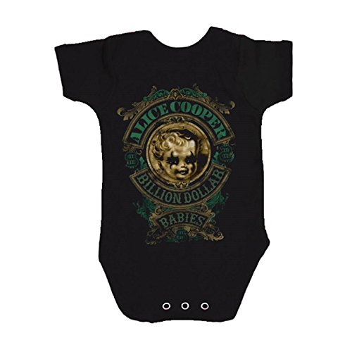 Alice Cooper Billion Dollar Baby nue NERO Pigiama (Ages 3 - 24 Months) nero S (3-6 Mesi)