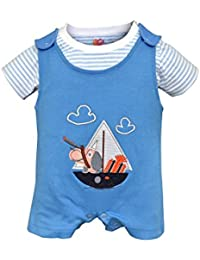 Orange and Orchid Baby Boy's Cotton Tops & Bottoms Sets