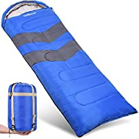 Abco Tech Sleeping Bag – Envelope Lightweight Portable, Waterproof, Comfort With Compression Sack, Great For 4 Season Traveling, Camping, Hiking, Outdoor Activities. (SINGLE)