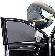 Car Window Shade, 2 Pack Universal Car Side Window Sun Shades, Breathable Sun Shades Mesh Shield, Sun Glare, P