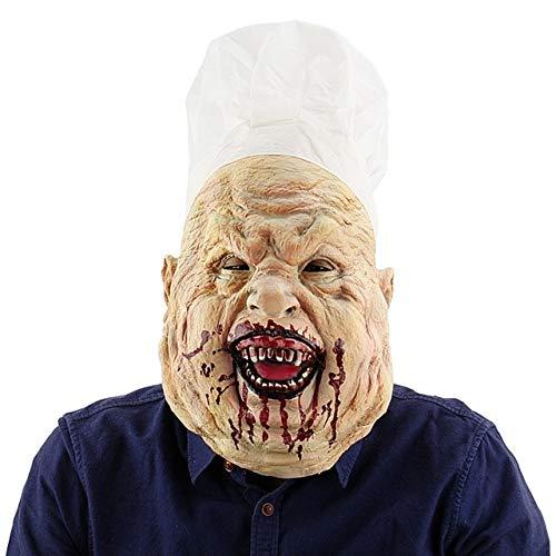 Kostüm 3 Jason Teil - WULIHONG-MaskeFestival Party Supplies Gruselige Halloween Maske Latex Horror Maske für Maskerade Party Kostüm Cosplay Halloween DekorationGrün