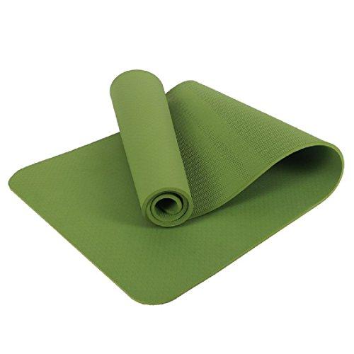 SKY-Maria Yoga Matte Erweiterte Version Fitness Yoga Übung TPE Rutschfeste Matte Innenaktivitäten Matte,Green,183 * 80 * 0.8CM
