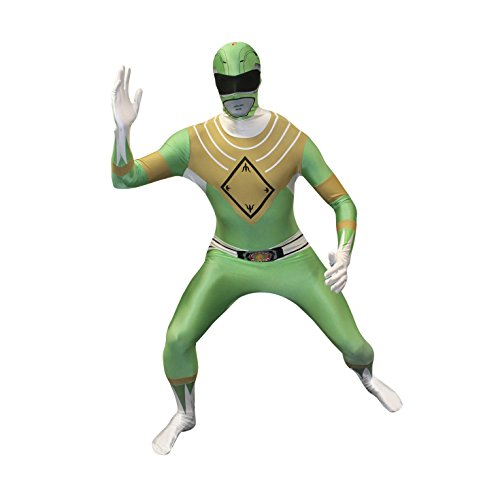 Morphsuits - Costume per Travestimento da Power Rangers, Adulto, Taglia: XL, Colore: Verde