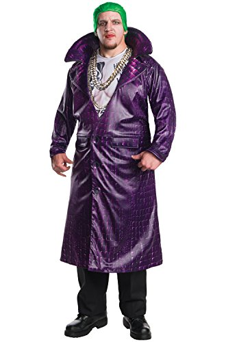 Suicide Squad Costume, Mens Deluxe Joker Outfit, Plus size, CHEST 46 - 52