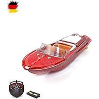 Yacht miniature télécommandé RCSet complet comprenant:Télécommande + Piles+ Chargeur + batteries.