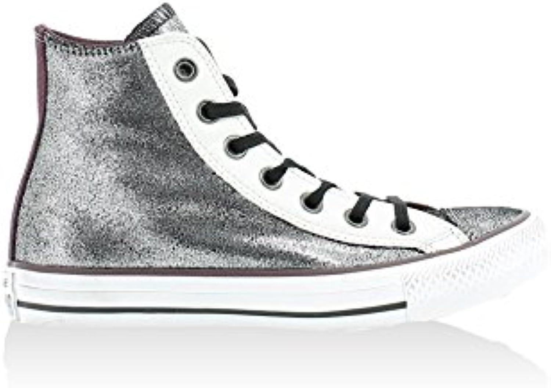 4a16b699de6c32 Converse All Star High-Top Silver Trainers