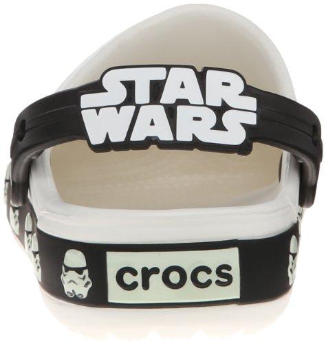 Crocs CB Star Wars Stormtrooper K, Zoccoli e sabot, Unisex - bambino Bianco (White/Black)