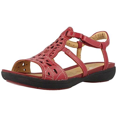 Sandali e infradito per le donne, colore Rosso , marca CLARKS, modello Sandali E Infradito Per Le Donne CLARKS VALENCIA Rosso Rosso