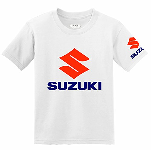 Suzuki Logo with Sleeve T-Shirt bianco M
