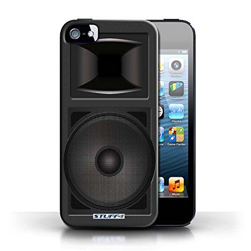 Coque en plastique pour Apple iPhone 5/5S Collection Haut-Parleur dessin - Amplificateur Moniteur Studio