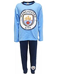 Boys Official MANCHESTER CITY Football Club MCFC Long Pyjamas sizes from 4 to 12 Years