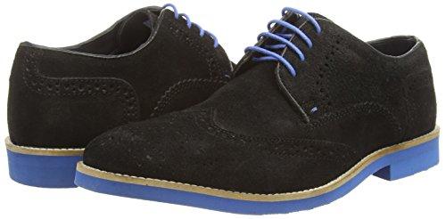 Red Tape Laxford, Chaussures brogues à lacets homme Noir - Noir