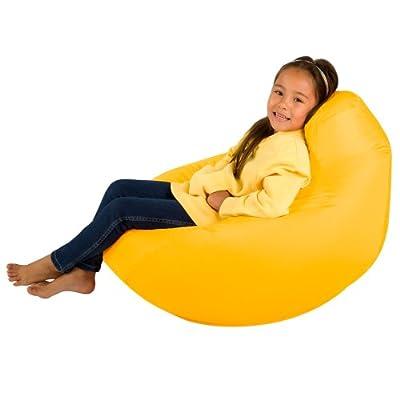 Kids Hi-BagZ® - Kids Bean Bag Gaming Chair - Childrens Beanbag (Water Resistant) YELLOW