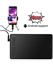 HUION Graphics Drawing Tablet H950P Tilt Function Battery-Free Stylus Support Android Windows macOS
