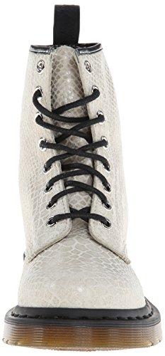 Dr. Martens 1460 Snake High Shine Damen - White Snake High Shine