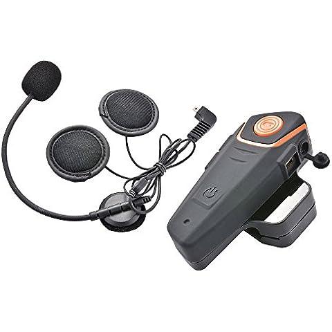 XCSOURCE universale resistente all'acqua del casco auricolare Bluetooth Intercom Interphone per lettore MP3 motocicletta del motociclo del casco Walkie Talkie MA853