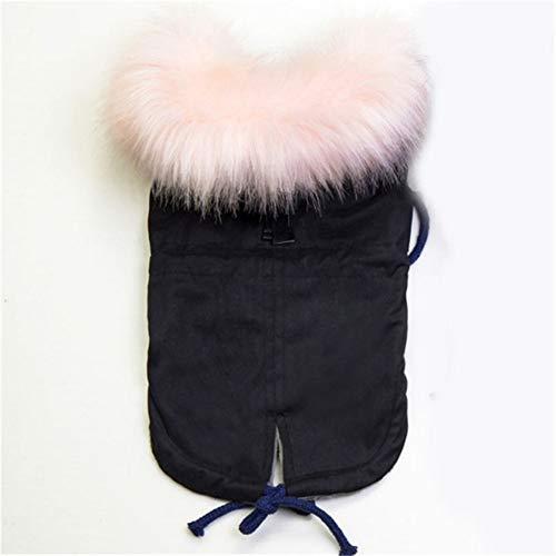 LovelyPet Winter Hund Kleidung Faux Pelz Kragen Hund Mantel for Kleine Hund Warme Winddicht Pet Parka Fleece Gefüttert Welpen Jacke (Color : C, Size : L) - Pelz Gefüttert Parka