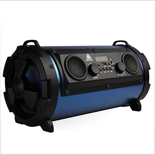 GNAIQUY Enceinte Bluetooth Intelligent-Lumières colorées Super Veille Basse 15W Carte Multifonction Son FM Support Disque U, Carte TF, Carte SD,Blue