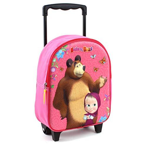 Masha et Michka Michka Valigia per bambini, 31 cm, 9 liters, Rosa (Pink)