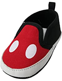 newest f5928 8c14c Disney Mickey Mouse rojo y negro infantil zapatos
