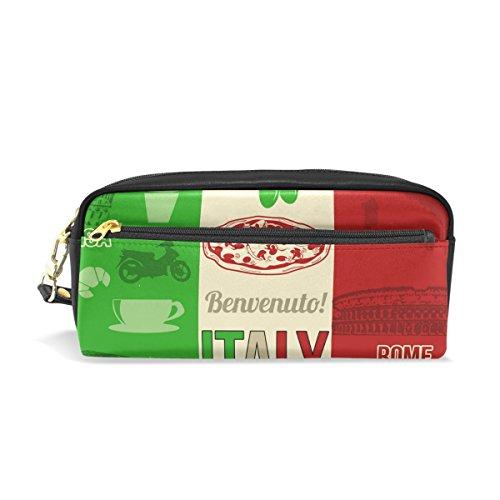Eslifey Italienische Lebensmittel- und Bauarbeitstasche aus PU-Leder für Schule Stifteetui, Stifteetui, für Kinder, wasserdicht, Kosmetiktasche, Make-up, Beauty Case