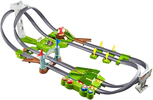 Hot Wheels GCP27 - Mario Kart Mario Rundkurs Rennbahn Trackset Deluxe inkl. -