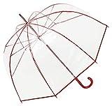VON LILIENFELD® Parapluie Transparent translucide Femme Homme Melina Rouge