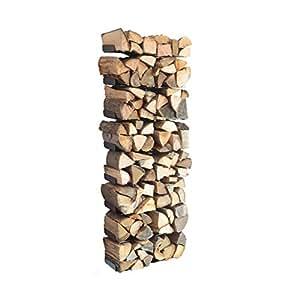 wooden tree kaminholzregal wandversion k che. Black Bedroom Furniture Sets. Home Design Ideas