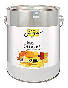 Solo Goya 39516 - Feinste künstlerölfarbe Umbra Natural, 2500 ml Cubo, Color marrón