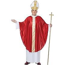 El Papa adultos Plus Size Costume Robe Sombrero Iglesia Católica religiosa (Priest Costume)