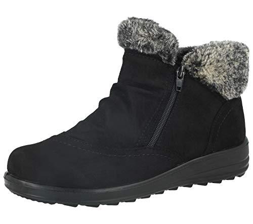 Zapatillas de Deporte para Mujer de Ante sintético, cálidas y Forradas de Piel sintética, cómodas y Casuales, Tallas 36 a 46, Color Negro, Talla 36.5