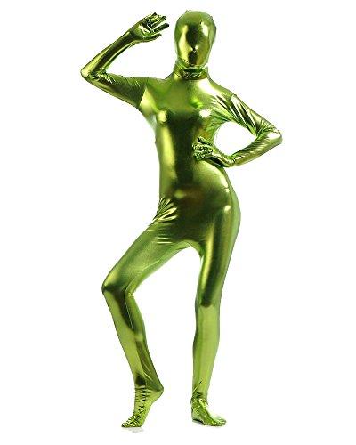 Ganzkörperanzug Kostüm Ganzkörper Anzug Suit Halloween Kostüm Gras Grün (Spandex Kostüme Batman)