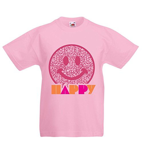 7fad5009ba9d8 lepni.me Enfants garçons Filles T-Shirt Emoji Wear - Inspirational Happy  Emoticon