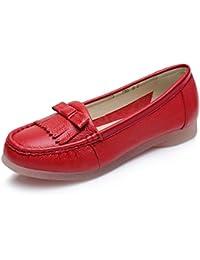 GRRONG Zapatos Planos Cómodos Inferiores Suaves 4243 Zapatos De La Madre Zapatos De La Enfermera