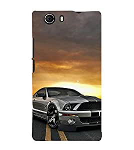 ifasho Designer Phone Back Case Cover Micromax Canvas Nitro 2 E311 ( Pink Blue Brown Pattern Design )
