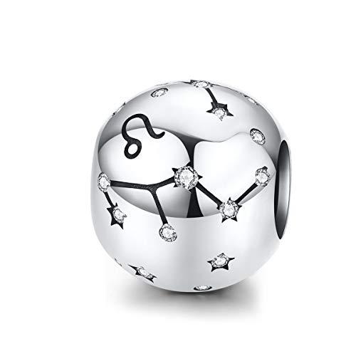 Reiko Löwe Konstellation 925 Sterling Silber Bead Charms Anhänger Für Armbänder Oder Halsketten
