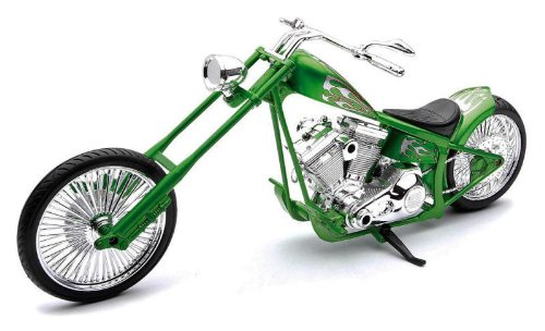 Custom Chopper [NewRay 43493], Grün, 1:12 Die Cast -