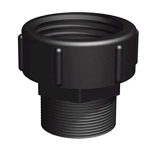 Bsp Anschluss (CPP weiblich S75x6-männlich 2 Zoll BSP-Anschluss IBC schwarz)