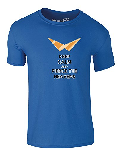 Brand88 - Keep Calm and Pierce the Heavens, Erwachsene Gedrucktes T-Shirt  Königsblau/