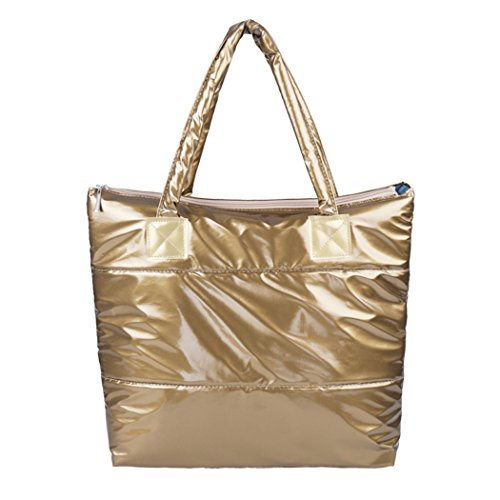 ZEARO Damen Schultertasche Casual Handtasche wasserdicht Golden