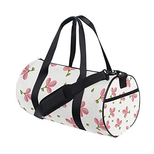 Montoj Süßes Rot Trefoil Muster Groß Gym Duffle Bag