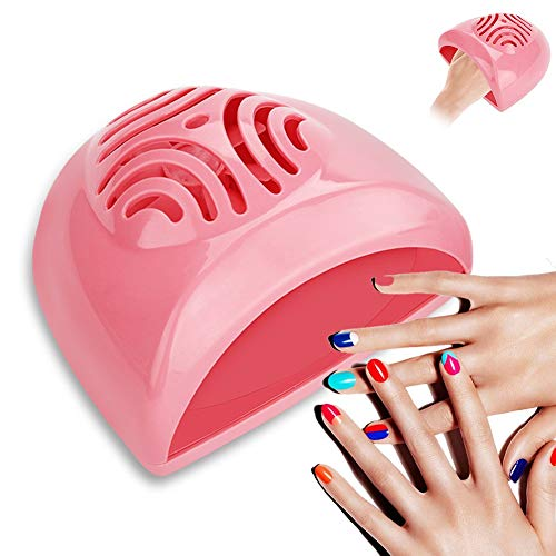E-CHENG Nail Dryer Fan, Nail Blower Portable Manicure Tool Professional Electric Hand Foot Nail Polish Dryer Machine for Drying Nail Polish & Acrylic Nail - Battery Operated(Pink) -