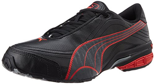 Puma Men's Tazon III DP Black, Dark Shadow and High Risk Red Mesh Running Shoes - 7 UK/India (40.5 EU)  available at amazon for Rs.4049