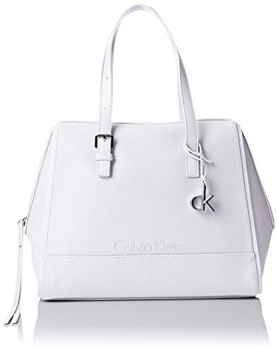 Calvin Klein Melissa Satchel, Borse Donna White
