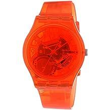 Swatch  Gent Abricotier - Reloj de cuarzo unisex, con correa de plástico, color naranja