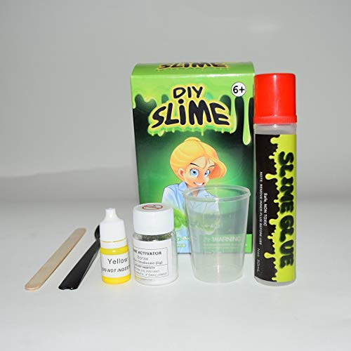 Swiftswan DIY Kristall Slime Making Kit, Fluffy Crystal Gliter Pulver Kleber Spielen Spiel für Kinder Pädagogisches Spielzeug Erwachsene Stressabbau Kristall Schlamm Slime