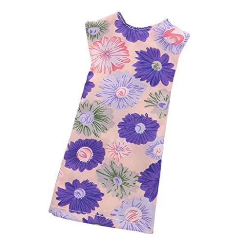 Baoblaze Mode Puppe ärmelloses Kleid mit Blumenmuster Abendkleid Sommer Kleidung für 27-29cm Mädchen Puppen Dress Up - # 2